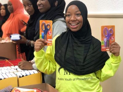 Girl giving back to community
